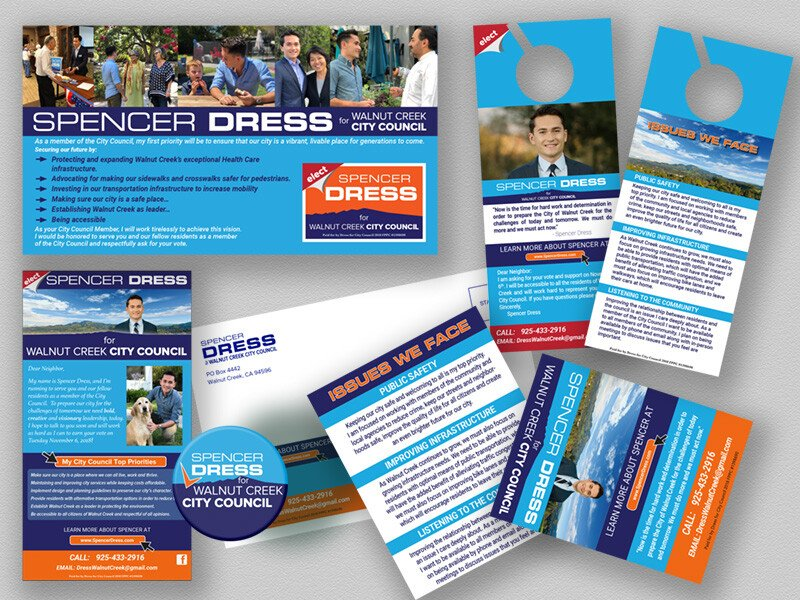 Spencer Dress City Council Campaign Printed Materials