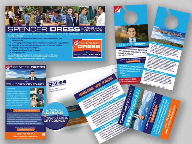 Spencer Dress City Council Campaign Printed Materials